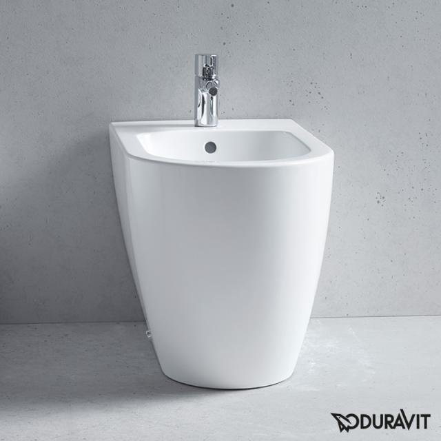 Duravit ME by Starck Stand-Bidet back to wall weiß, mit WonderGliss