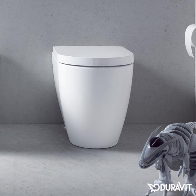 Duravit ME by Starck Stand-Tiefspül-WC back to wall weiß matt, mit WonderGliss