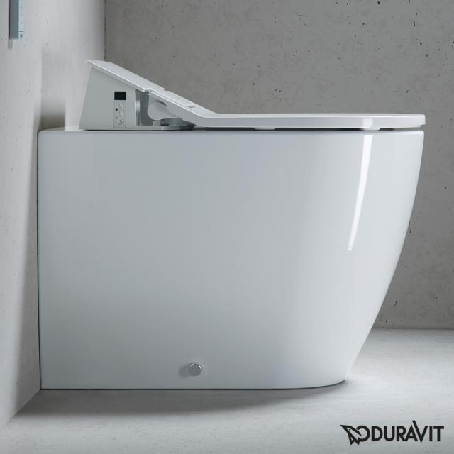Duravit ME by Starck Stand-Tiefspül-WC für SensoWash®, back to wall weiß mit HygieneGlaze