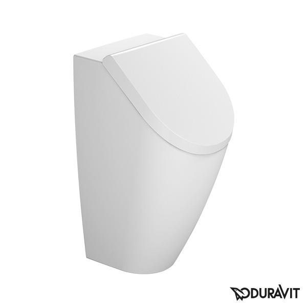 Duravit ME by Starck Urinal, rimless für Deckel, weiß mit WonderGliss, Zulauf hinten