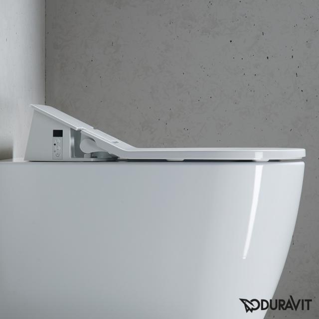 Duravit ME by Starck Wand-Tiefspül-WC rimless mit SensoWash® Slim WC-Sitz weiß