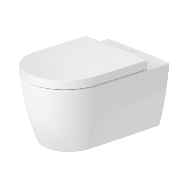 Duravit ME by Starck Wand-Tiefspül-WC mit WC-Sitz, HygieneFlush, rimless weiß matt/weiß, mit HygieneGlaze