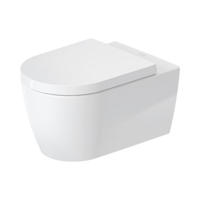 Duravit ME by Starck Wand-Tiefspül-WC mit WC-Sitz, HygieneFlush, rimless weiß, mit HygieneGlaze