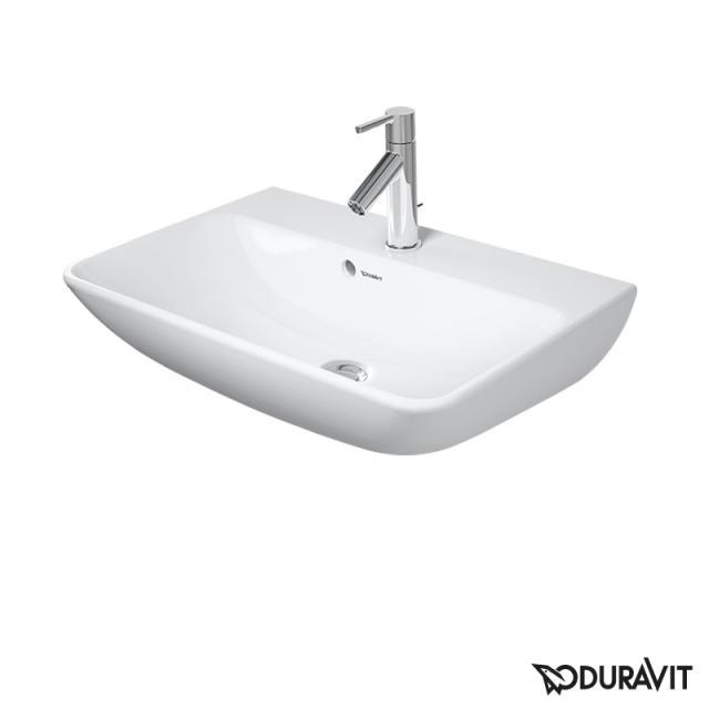 Duravit ME by Starck Waschtisch Compact weiß, mit WonderGliss, mit 1 Hahnloch