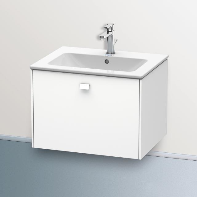 Duravit ME by Starck Waschtisch mit Brioso Waschtischunterschrank mit 1 Auszug weiß, mit 1 Hahnloch