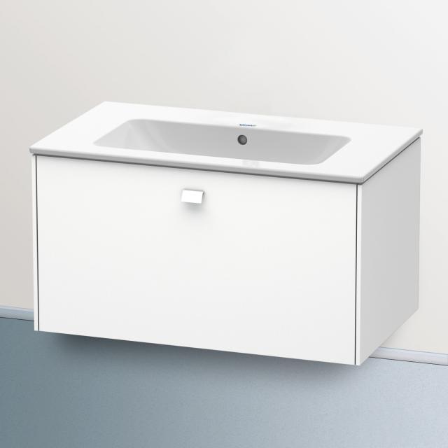Duravit ME by Starck Waschtisch mit Brioso Waschtischunterschrank mit 1 Auszug weiß, mit WonderGliss, ohne Hahnloch