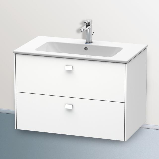 Duravit ME by Starck Waschtisch mit Brioso Waschtischunterschrank mit 2 Auszügen weiß, mit 1 Hahnloch