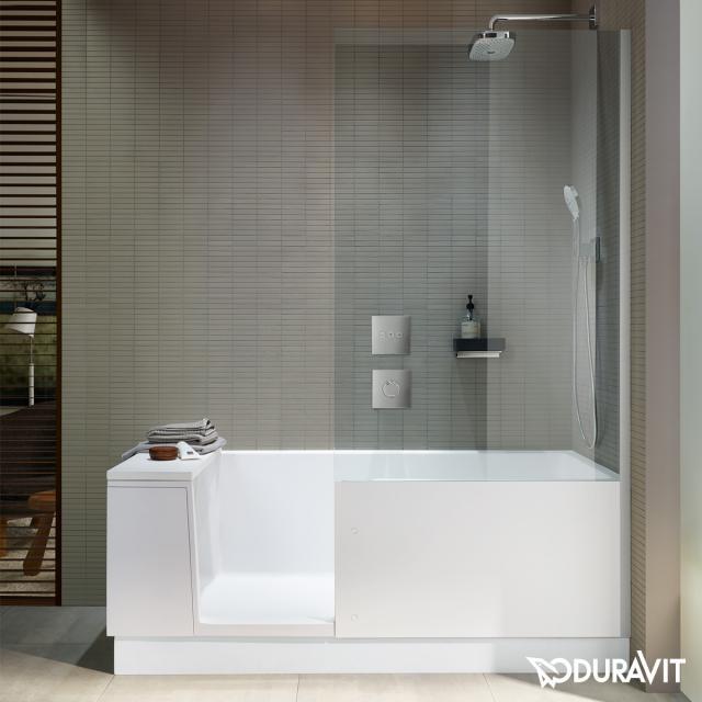 Duravit Shower + Bath Rechteck-Badewanne mit Duschzone und Verkleidung Klarglas