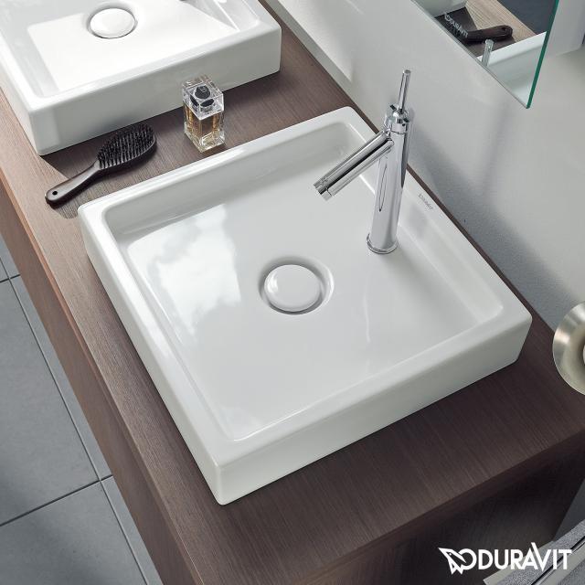 Duravit Starck 1 Möbelwaschtisch weiß, mit 1 Hahnloch
