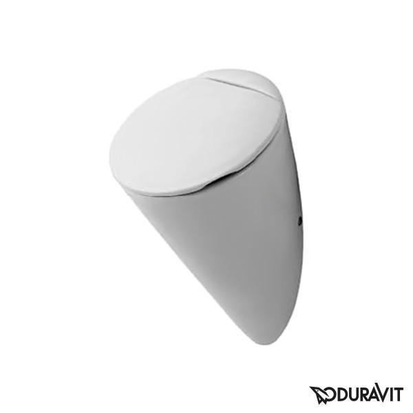 Duravit Starck 1 / Starck 2 Urinal, Zulauf hinten für Deckel, weiß mit WonderGliss