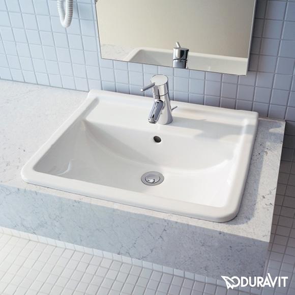 Duravit Starck 3 Einbauwaschtisch weiß, mit 1 Hahnloch