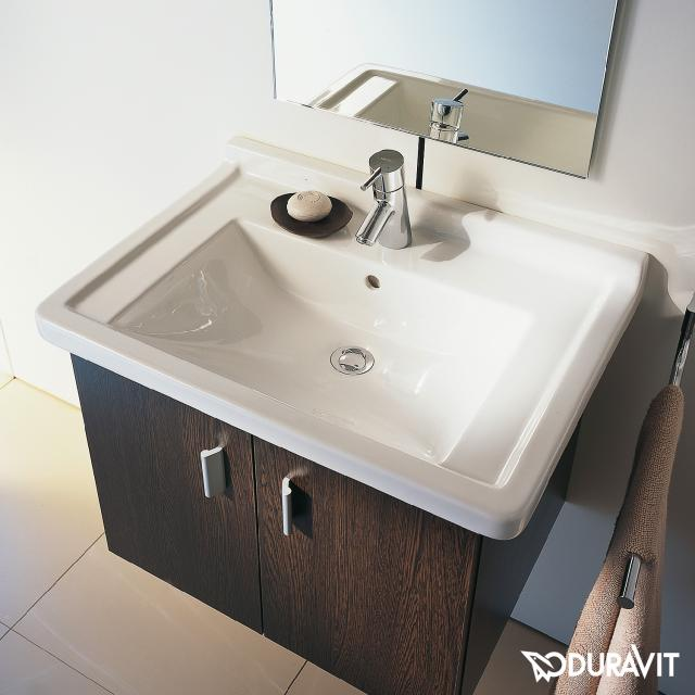 Duravit Starck 3 Möbelwaschtisch weiß, mit 1 Hahnloch, mit Überlauf