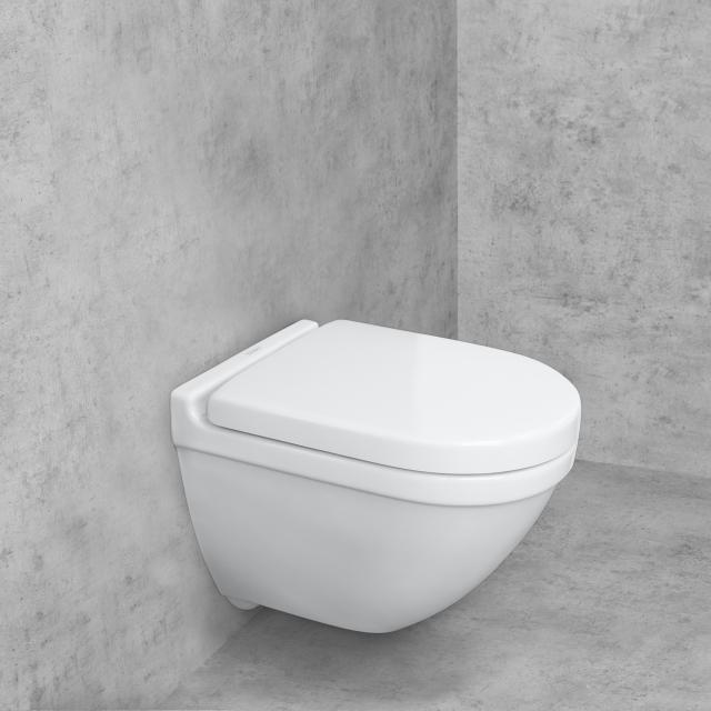Duravit Starck 3 Wand-Tiefspül-WC Compact & Tellkamp Premium 7000 WC-Sitz SET weiß, mit WonderGliss