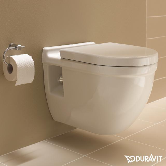 Duravit Starck 3 Wand-Tiefspül-WC Set, mit WC-Sitz weiß, mit WonderGliss