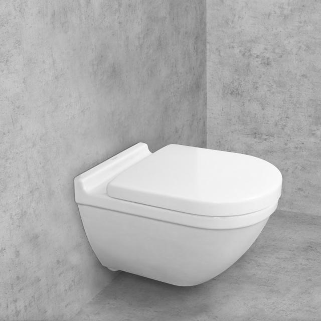 Duravit Starck 3 Wand-Tiefspül-WC & Tellkamp Premium 7000 WC-Sitz SET mit Spülrand, weiß, mit WonderGliss