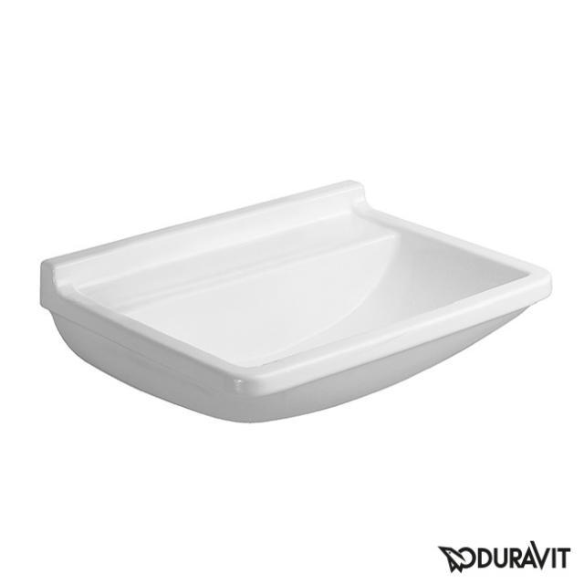Duravit Starck 3 Waschtisch med weiß, ohne Hahnloch, ohne Überlauf