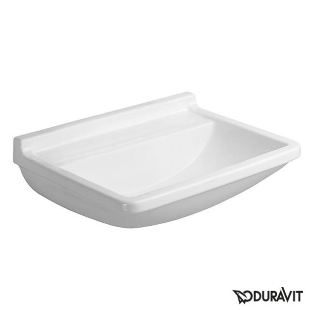 Duravit Starck 3 Waschtisch med weiß, mit WonderGliss, ohne Hahnloch, ohne Überlauf