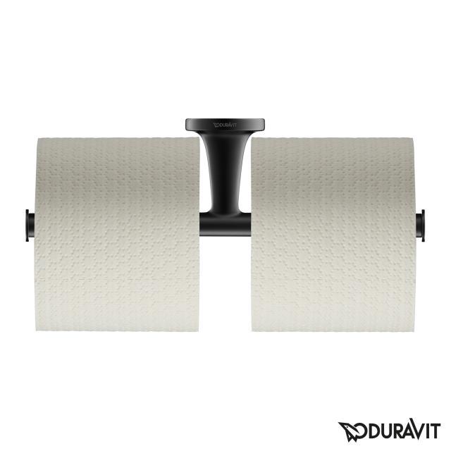 Duravit Starck T Papierrollenhalter doppelt schwarz matt