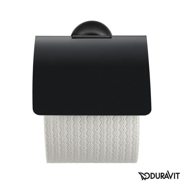 Duravit Starck T Papierrollenhalter mit Deckel schwarz matt