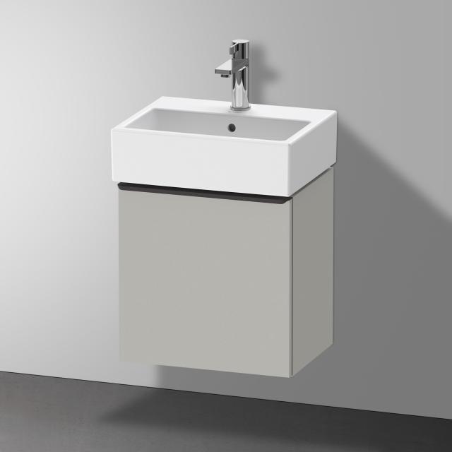 Duravit Vero Air Handwaschbecken mit D-Neo Waschtischunterschrank mit 1 Tür Front betongrau matt / Korpus betongrau matt, WT weiß, mit WonderGliss, mit 1 Hahnloch