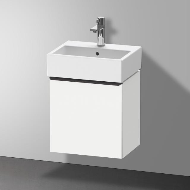 Duravit Vero Air Handwaschbecken mit D-Neo Waschtischunterschrank mit 1 Tür Front weiß matt / Korpus weiß matt, WT weiß, mit WonderGliss, mit 1 Hahnloch