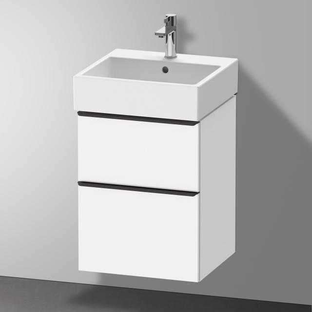 Duravit Vero Air Waschtisch mit D-Neo Waschtischunterschrank mit 2 Auszügen Front weiß matt / Korpus weiß matt, WT weiß, mit WonderGliss, mit 1 Hahnloch, mit Überlauf