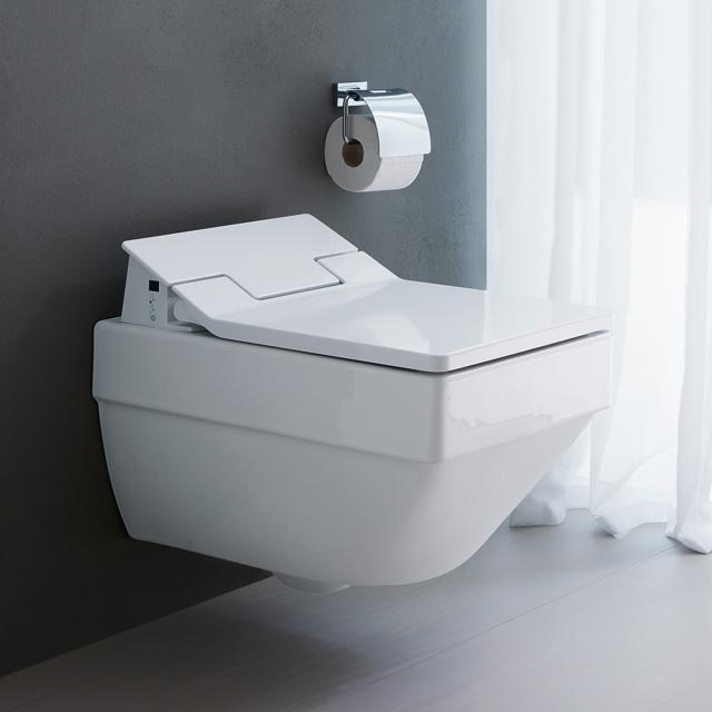 Duravit Vero Air Wand-Tiefspül-WC, rimless, mit WC-Sitz weiß, mit WonderGliss
