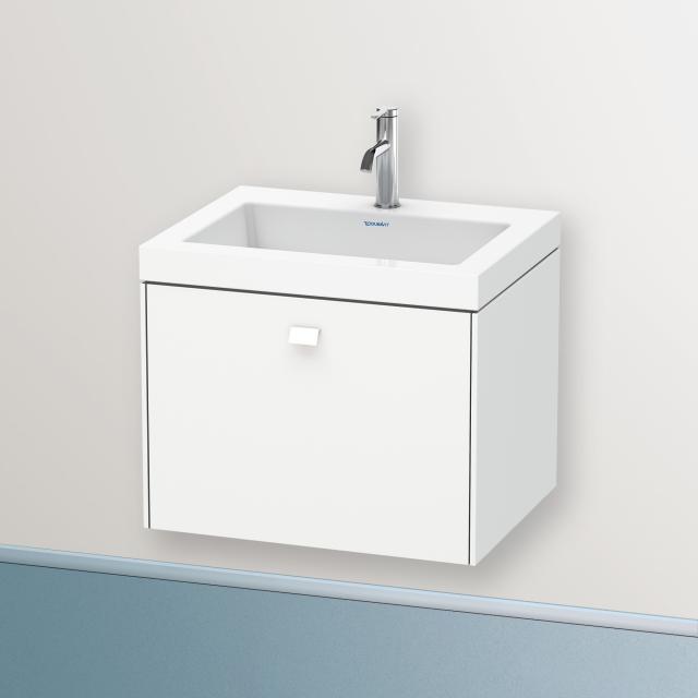 Duravit Vero Air Waschtisch mit Brioso Waschtischunterschrank mit 1 Auszug Front weiß matt/Korpus weiß matt, Griff weiß matt