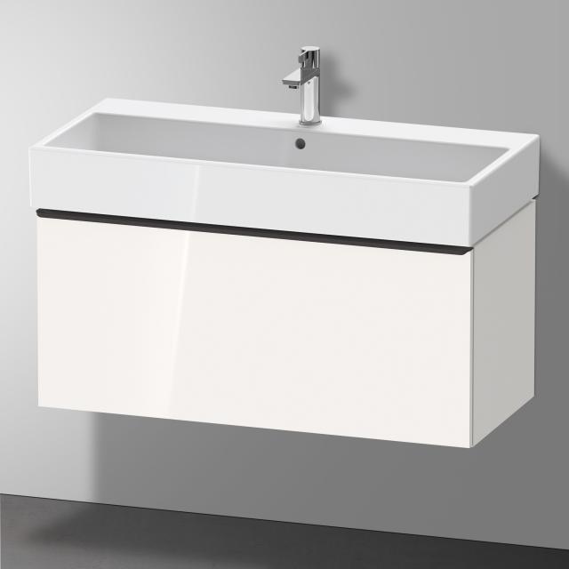 Duravit Vero Air Waschtisch mit D-Neo Waschtischunterschrank mit 1 Auszug Front weiß hochglanz / Korpus weiß hochglanz, WT weiß, mit WonderGliss, mit 1 Hahnloch, mit Überlauf