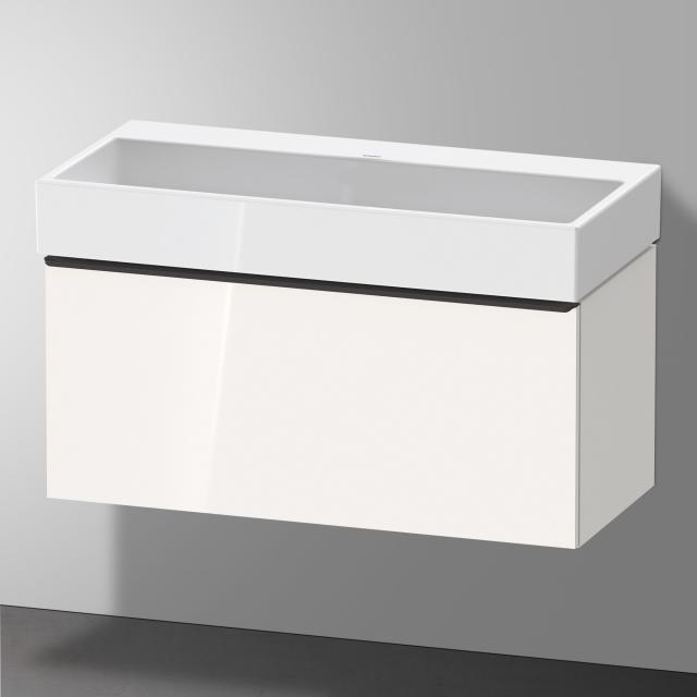 Duravit Vero Air Waschtisch mit D-Neo Waschtischunterschrank mit 1 Auszug Front weiß hochglanz / Korpus weiß hochglanz, WT weiß, ohne Hahnloch, ohne Überlauf
