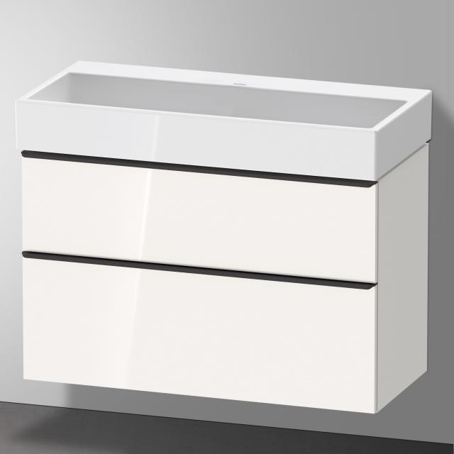 Duravit Vero Air Waschtisch mit D-Neo Waschtischunterschrank mit 2 Auszügen Front weiß hochglanz / Korpus weiß hochglanz, WT weiß, ohne Hahnloch, ohne Überlauf
