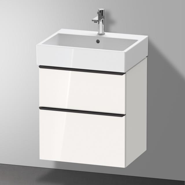 Duravit Vero Air Waschtisch mit D-Neo Waschtischunterschrank mit 2 Auszügen Front weiß hochglanz / Korpus weiß hochglanz, WT weiß, mit WonderGliss, mit 1 Hahnloch, mit Überlauf