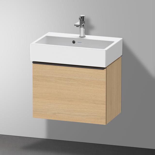 Duravit Vero Air Waschtisch mit D-Neo Waschtischunterschrank Compact mit 1 Auszug Front eiche natur / Korpus eiche natur, WT weiß, mit WonderGliss, mit 1 Hahnloch, mit Überlauf
