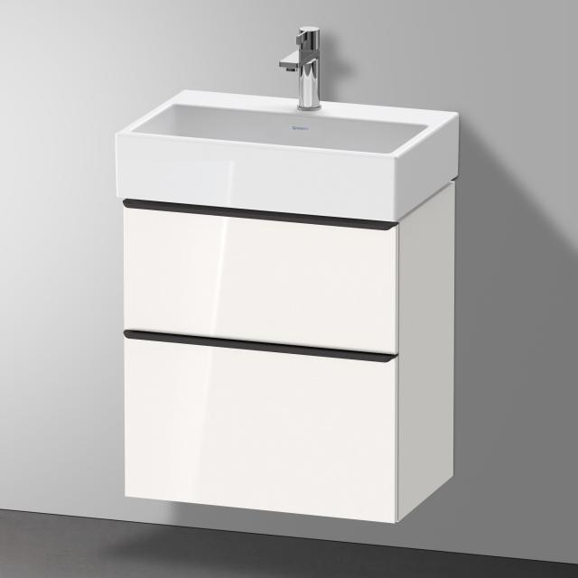 Duravit Vero Air Waschtisch mit D-Neo Waschtischunterschrank Compact mit 2 Auszügen Front weiß hochglanz / Korpus weiß hochglanz, WT weiß, mit WonderGliss, mit 1 Hahnloch, ohne Überlauf