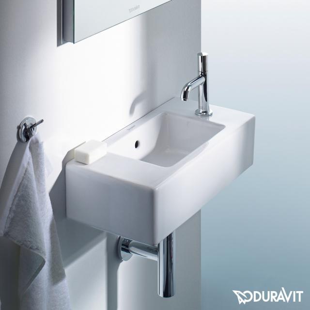 Duravit Vero Handwaschbecken weiß, mit WonderGliss, mit 1 Hahnloch