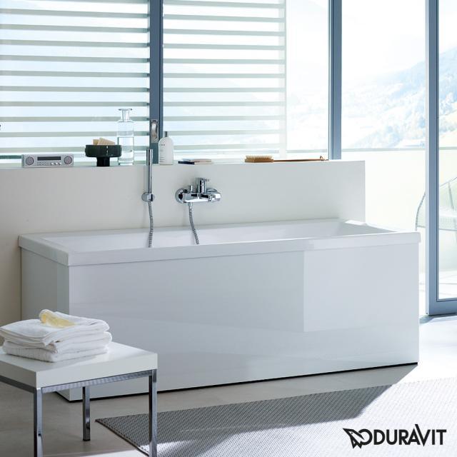 Duravit Vero Rechteck-Badewanne mit Rückenschräge links