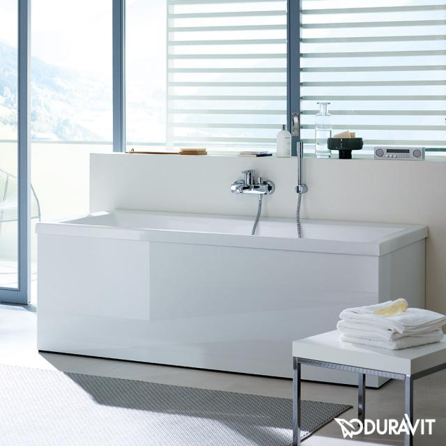 Duravit Vero Rechteck-Badewanne mit Rückenschräge rechts