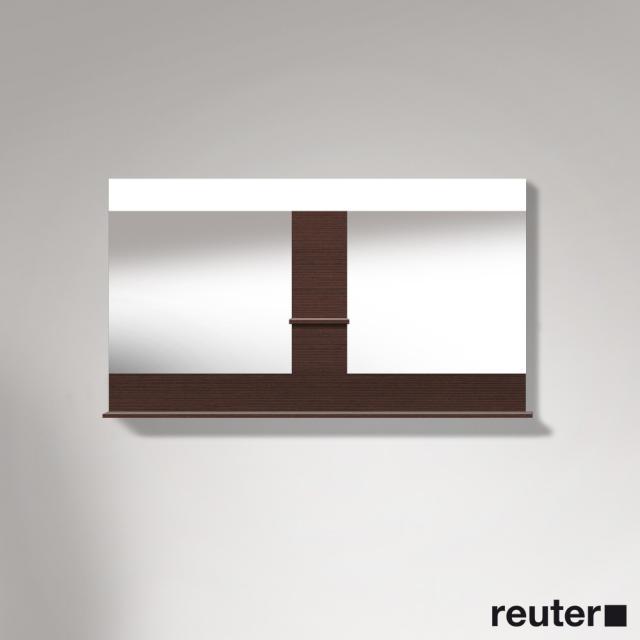 Duravit Vero Spiegel mit LED-Beleuchtung, Ablageflächen unten/mittig kastanie dunkel