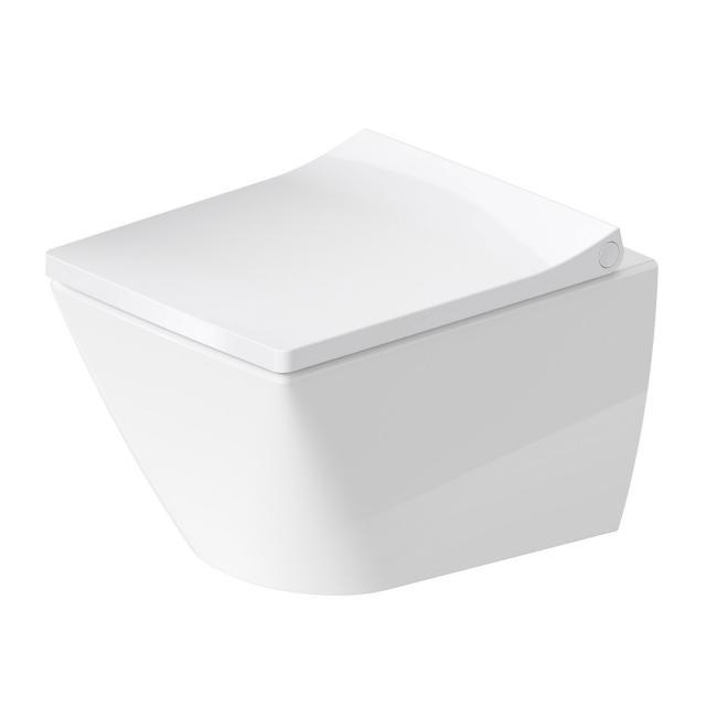 Duravit Viu Wand-Tiefspül-WC mit WC-Sitz Compact, ohne Spülrand weiß, mit WonderGliss