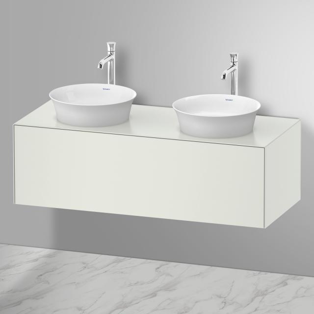 Duravit White Tulip 2 Aufsatzwaschtische mit Waschtischunterschrank mit 1 Auszug Front weiß seidenmatt / Korpus weiß seidenmatt, ohne Einrichtungssystem, mit Tip-on-Technik, WT weiß