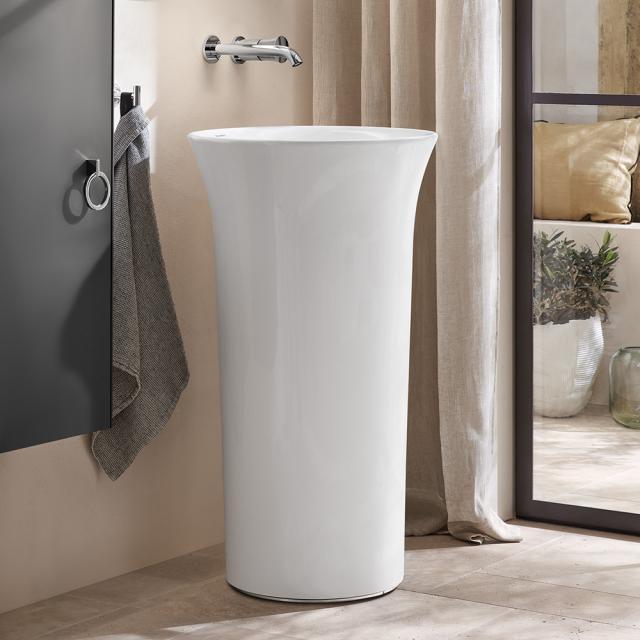 Duravit White Tulip freistehender Waschtisch mit Bodenablauf, weiß