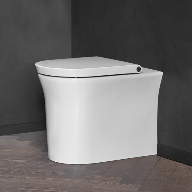 Duravit White Tulip Stand-Tiefspül-WC, rimless, back to wall weiß, mit HygieneGlaze