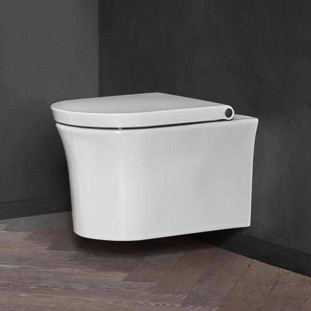 Duravit White Tulip Wand-Tiefspül-WC, HygieneFlush, rimless, mit WC-Sitz