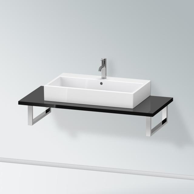 Duravit X-Large Konsole für 1 Aufsatz-/Einbauwaschtisch schwarz hochglanz
