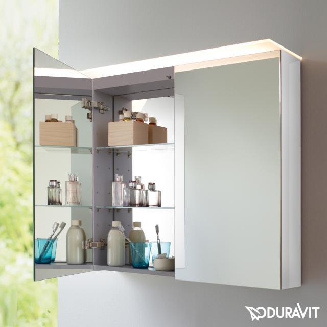 Duravit X-Large Spiegelschrank mit LED-Beleuchtung weiß hochglanz