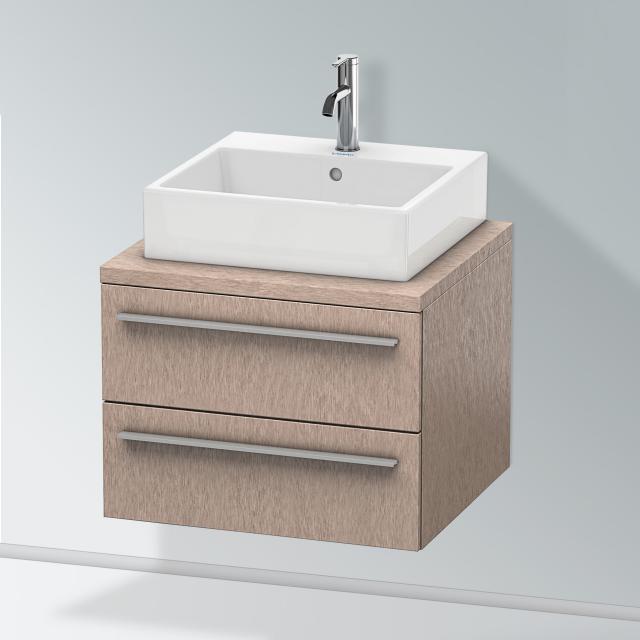Duravit X-Large Waschtischunterschrank für Konsole mit 2 Auszügen Front eiche kaschmir / Korpus eiche kaschmir