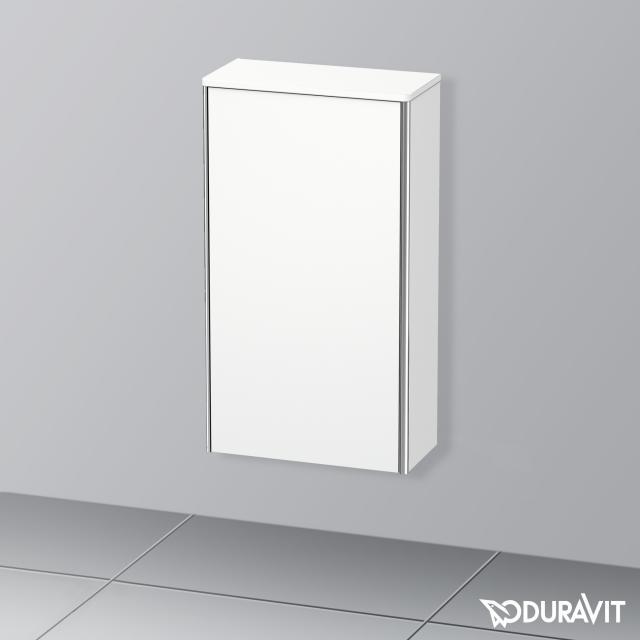 Duravit XSquare Halbhochschrank mit 1 Tür Front weiß matt / Korpus weiß matt