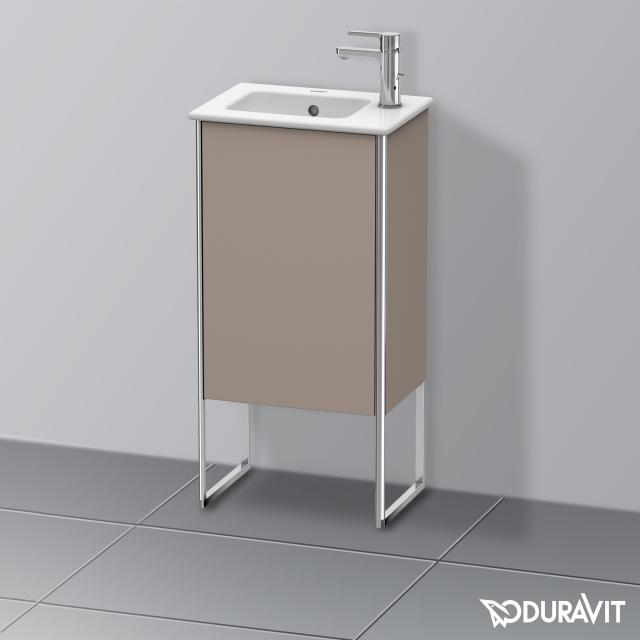 Duravit XSquare Handwaschbeckenunterschrank mit 1 Tür Front basalt matt / Korpus basalt matt
