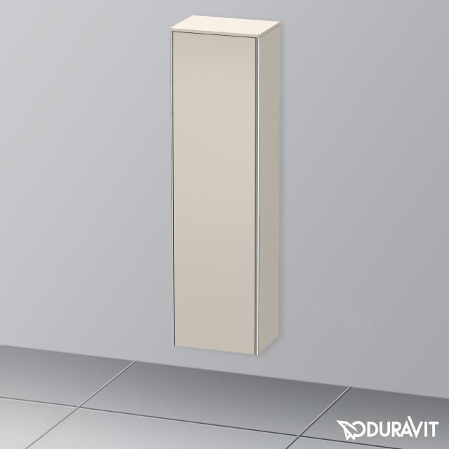 Duravit XSquare Hochschrank mit 1 Tür Front taupe matt / Korpus taupe matt