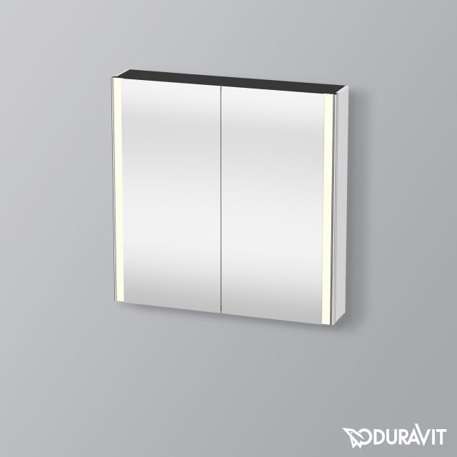 Duravit XSquare Spiegelschrank mit LED-Beleuchtung und 2 Türen Front verspiegelt / Korpus weiß matt